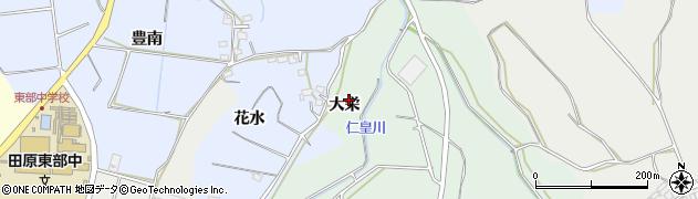 愛知県田原市六連町(大栄)周辺の地図