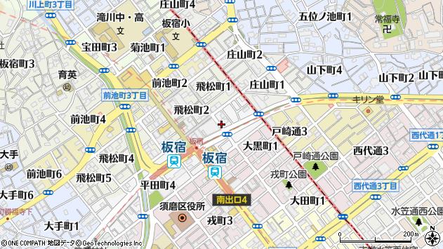 〒654-0021 兵庫県神戸市須磨区平田町の地図