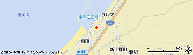 愛知県田原市宇津江町(ワルマ)周辺の地図