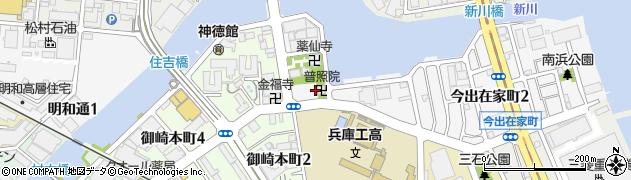 普照院周辺の地図