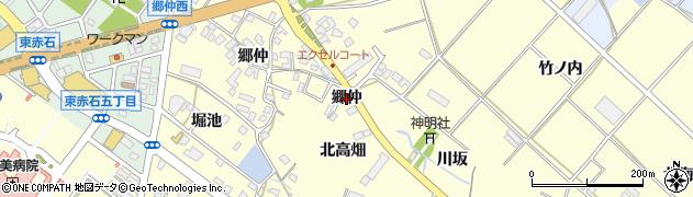 愛知県田原市神戸町(郷仲)周辺の地図