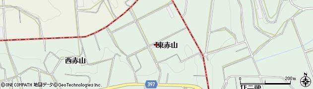 愛知県田原市六連町(東赤山)周辺の地図