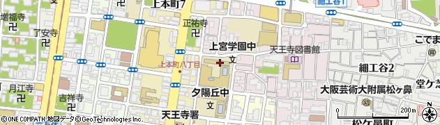 大阪府大阪市天王寺区上之宮町周辺の地図