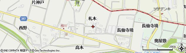 愛知県田原市相川町(札木)周辺の地図