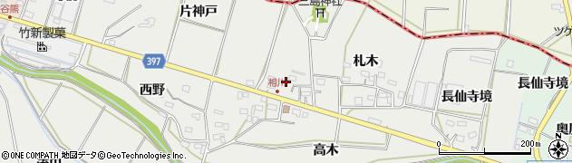 愛知県田原市相川町(御嶽)周辺の地図