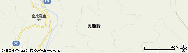 三重県伊賀市奥鹿野周辺の地図