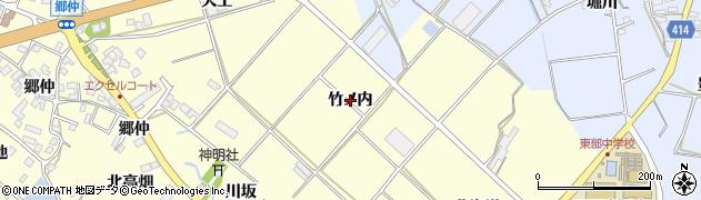 愛知県田原市神戸町(竹ノ内)周辺の地図