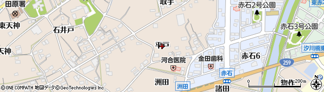 愛知県田原市加治町(平戸)周辺の地図