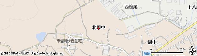 愛知県田原市加治町(北恩中)周辺の地図