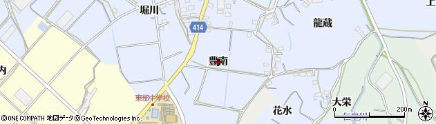 愛知県田原市豊島町(豊南)周辺の地図