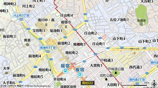 〒654-0012 兵庫県神戸市須磨区飛松町の地図