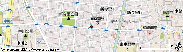 大阪府大阪市生野区新今里周辺の地図