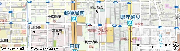 岡山県岡山市北区中山下周辺の地図