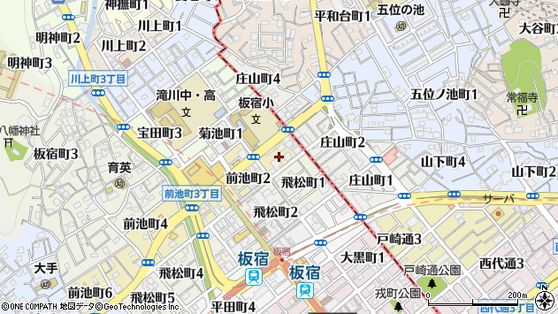 〒654-0011 兵庫県神戸市須磨区前池町の地図
