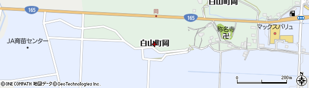 三重県津市白山町岡周辺の地図