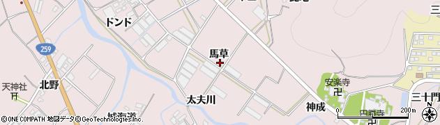 愛知県田原市野田町(馬草)周辺の地図