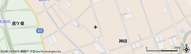 愛知県豊橋市西赤沢町周辺の地図