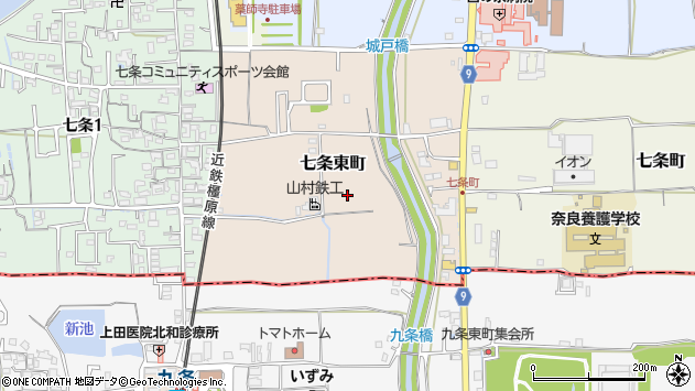 〒630-8052 奈良県奈良市七条東町の地図