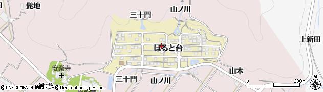愛知県田原市ほると台周辺の地図
