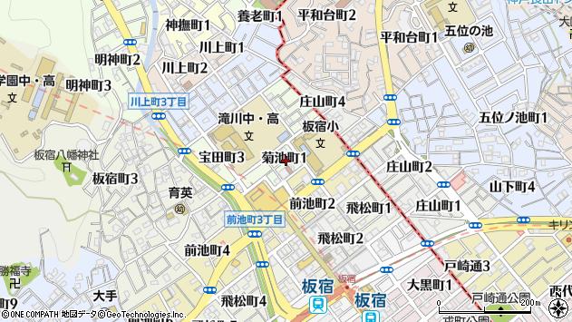 〒654-0008 兵庫県神戸市須磨区菊池町の地図