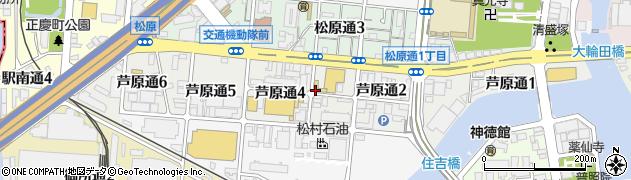 兵庫県神戸市兵庫区芦原通周辺の地図