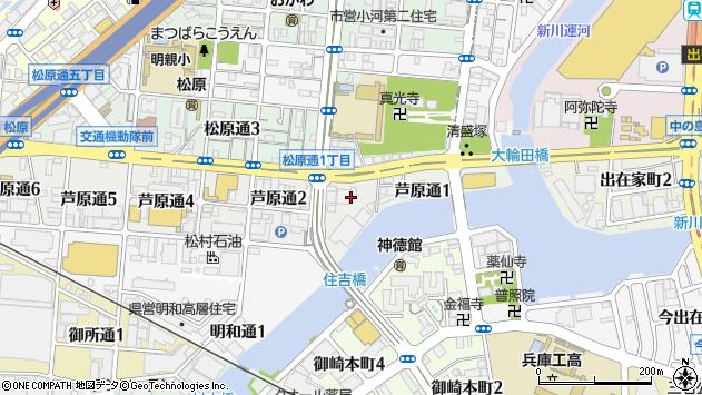 〒652-0882 兵庫県神戸市兵庫区芦原通の地図
