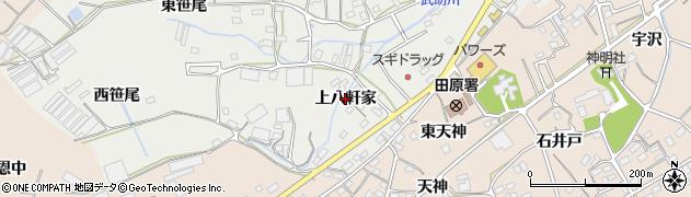 愛知県田原市田原町(上八軒家)周辺の地図
