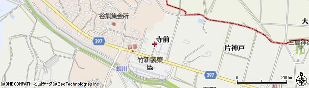 愛知県田原市相川町(寺前)周辺の地図