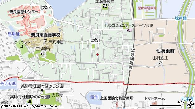 〒630-8053 奈良県奈良市七条の地図