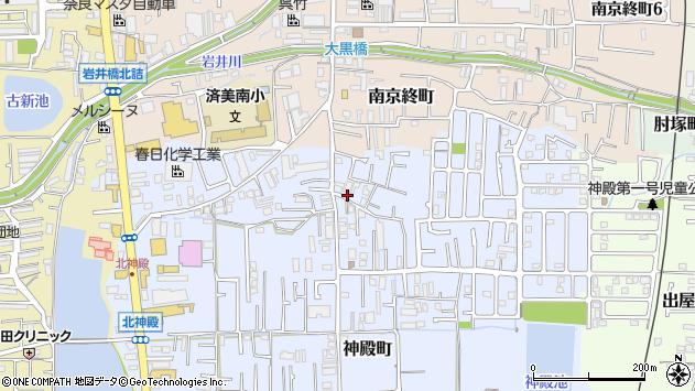 〒630-8441 奈良県奈良市神殿町の地図