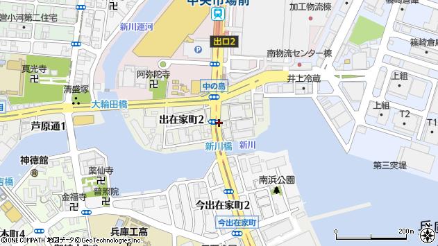 〒652-0846 兵庫県神戸市兵庫区出在家町の地図