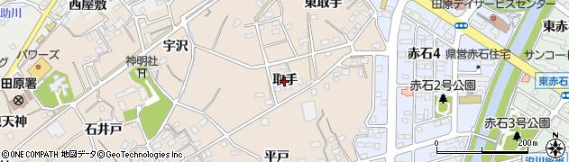 愛知県田原市加治町(取手)周辺の地図