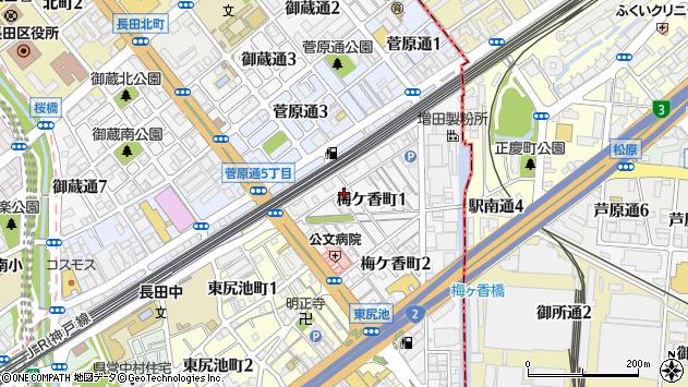 〒653-0021 兵庫県神戸市長田区梅ケ香町の地図