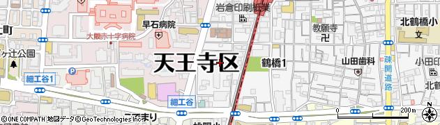 大阪府大阪市天王寺区東上町周辺の地図