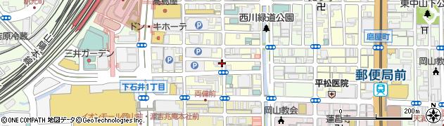 岡山県岡山市北区錦町周辺の地図