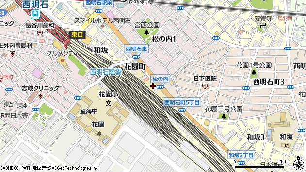 〒673-0015 兵庫県明石市花園町の地図