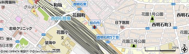 松の内周辺の地図