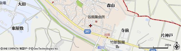 愛知県田原市谷熊町(太神)周辺の地図