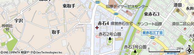 愛知県田原市赤石周辺の地図