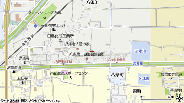 〒630-8145 奈良県奈良市八条の地図