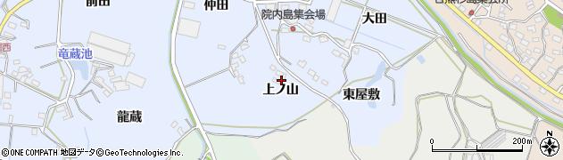 愛知県田原市豊島町(上ノ山)周辺の地図