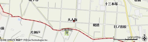 愛知県豊橋市杉山町(大人坂)周辺の地図