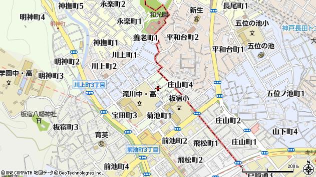 〒654-0007 兵庫県神戸市須磨区宝田町の地図