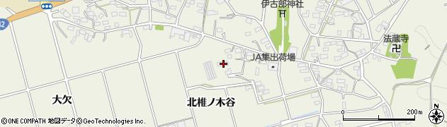愛知県豊橋市伊古部町(北椎ノ木谷)周辺の地図