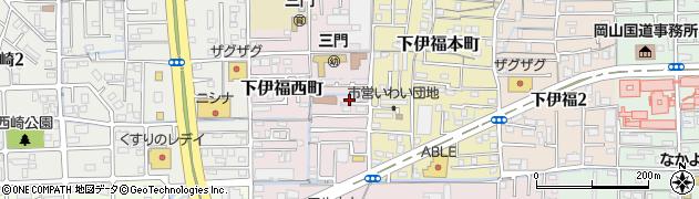 岡山県岡山市北区下伊福西町周辺の地図