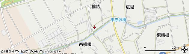 愛知県豊橋市東赤沢町(橋詰)周辺の地図