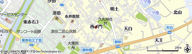 愛知県田原市神戸町(西ノ門)周辺の地図