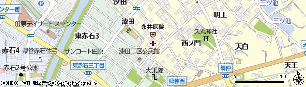 愛知県田原市神戸町(深田)周辺の地図