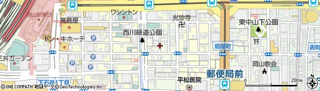 岡山県岡山市北区平和町周辺の地図