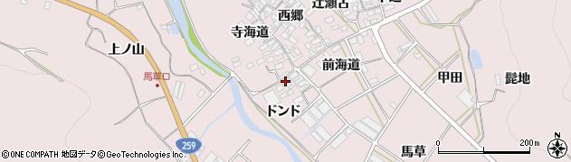 愛知県田原市野田町(ドンド)周辺の地図